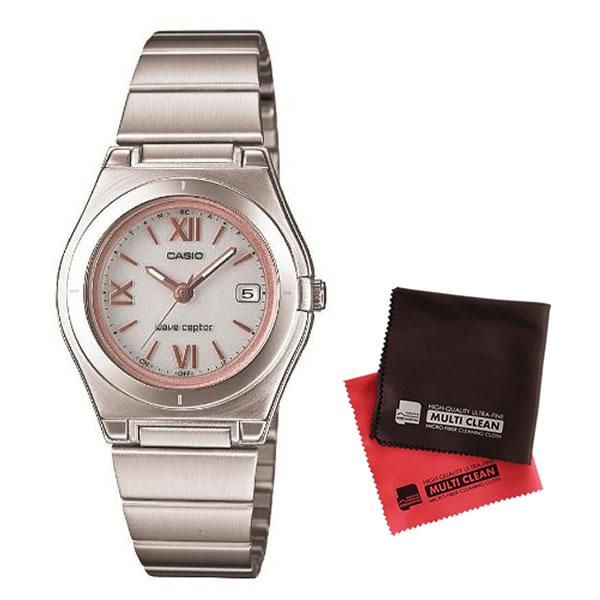 【マイクロファイバークロスセット】【国内正規品】[カシオ]CASIO 腕時計 WAVE CEPTOR ウェーブセプター タフソーラー 電波時計LWQ-10DJ-7A2JF レディース