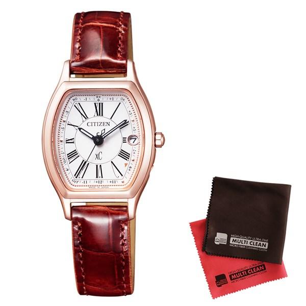 【セット】【国内正規品】[シチズン]CITIZEN 腕時計 ES9352-05B [クロスシー]xC レディース エコ・ドライブ電波時計 TITANIA LINE HAPPY FLIGHT シリーズ&クロス2枚セット