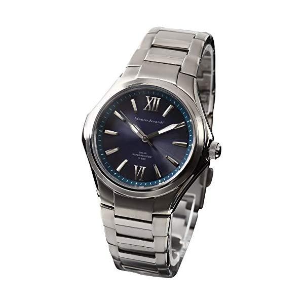 【正規輸入品】(マウロジェラルディ)Mauro Jerardi 腕時計 MJ039-5 メンズ(チタンバンド ソーラー アナログ)