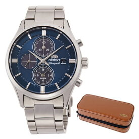 【時計ケースセット】【国内正規品】(オリエント)ORIENT 腕時計 RN-TY0003L (コンテンポラリー)CONTEMPORARY メンズ クロノグラフ(ステンレスバンド ソーラー 多針アナログ)