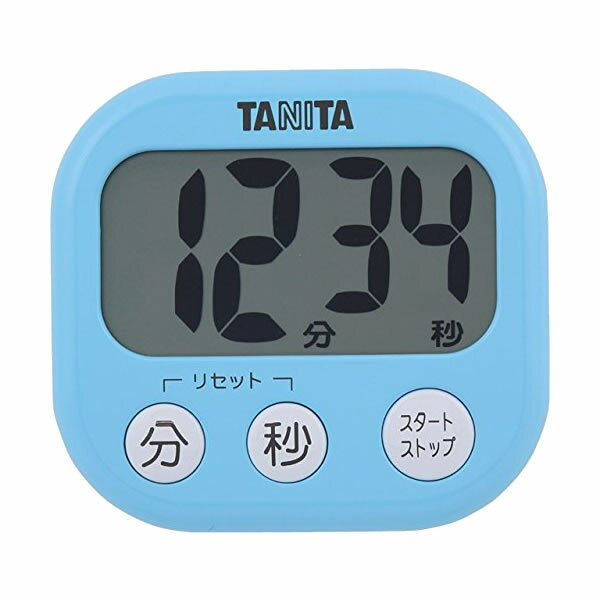 取り寄せ:納期1週間程度(メール便可:3点まで)TANITA[タニタ] でか見えプラスタイマー TD-384 (ブルー)[TD384]