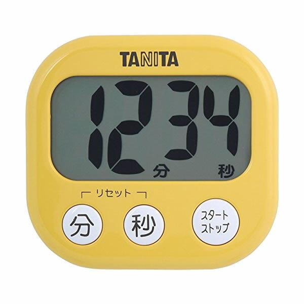 取り寄せ:納期1週間程度(メール便可:3点まで)TANITA[タニタ] でか見えプラスタイマー TD-384 (マンゴーイエロー)[TD384]