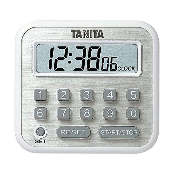 【外装箱から本体出しOKならメール便可:3点まで)TANITA(タニタ) デジタルタイマー 長時間 TD-375 (ホワイト)[TD375]