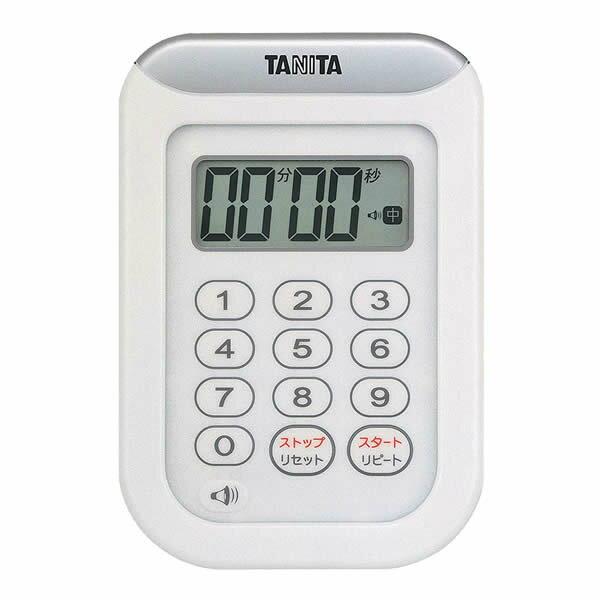 タニタ デジタルタイマー 丸洗いタイマー100分計 TD-378 (ホワイト) [TD378][TANITA]