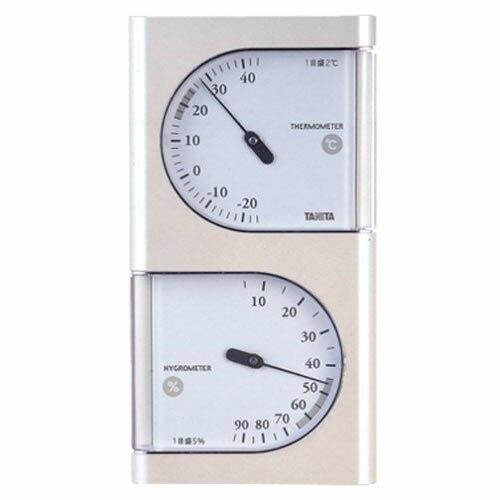 タニタ 温湿度計 TT-518 (パールホワイト) [TT518][TANITA]