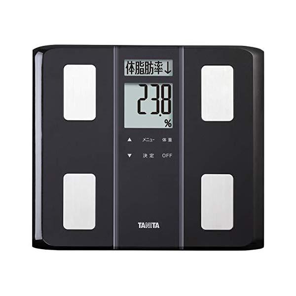 TANITA[タニタ] 体組成計 BC-331 BK (BC331 BK) ブラック 薄型ワイドタイプ マイサポ機能 自動認識機能 体内年齢 体脂肪率測定 BMI 筋肉量 基礎代謝量