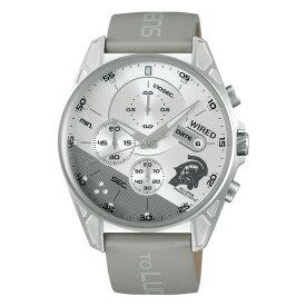 (国内正規品)(セイコー)SEIKO 腕時計 AGAT730 (ワイアード)WIRED メンズ スマートウォッチ コジマプロダクション wena ルーデンス コラボ 限定モデル(牛革バンド クオーツ 多針アナログ)