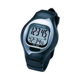 (箱出しOKならメール便可:1点まで)山佐時計計器(YAMASA) NEWとけい万歩 ブラック 350 TM-350 B(TM350)(腕時計式万歩計)
