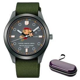 (時計ケースセット)(国内正規品)(セイコー)SEIKO 腕時計 ACCK424 (アルバ)ALBA メンズ レディース スーパーマリオコラボ「アクティブマリオ」(ナイロンバンド クオーツ アナログ)