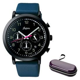(時計ケースセット)(国内正規品)(セイコー)SEIKO 腕時計 AFST401 (アルバ フュージョン)ALBA fusion メンズ レディース 70's シティミリタリー(牛革バンド クオーツ 多針アナログ)