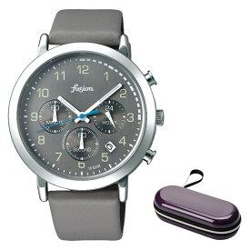 (時計ケースセット)(国内正規品)(セイコー)SEIKO 腕時計 AFST402 (アルバ フュージョン)ALBA fusion メンズ レディース 70's シティミリタリー(牛革バンド クオーツ 多針アナログ)