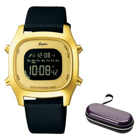 (時計ケースセット)(セイコー)SEIKO 腕時計 AFSM403 (アルバ フュージョン)ALBA fusion メンズ レディース 牛革バンド クオーツ デジタル(国内正規品)