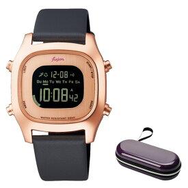 (時計ケースセット)(セイコー)SEIKO 腕時計 AFSM404 (アルバ フュージョン)ALBA fusion メンズ レディース 牛革バンド クオーツ デジタル(国内正規品)