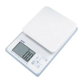 TANITA(タニタ) 洗えるクッキングスケール KW-220 ホワイト(KW-220-WH) 最大表示2kg 水や牛乳を容量表示 デジタルスケール 料理 お菓子作り