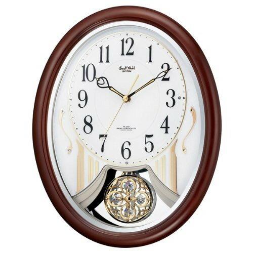 リズム時計 電波掛時計(アミュージングタイプ) からくり・アミューズ スモールワールドストリーム 4MN510RH06