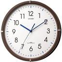 リズム時計 【電波掛時計】 4MYA23-006 シンプルモードミニ 木枠インテリア小ぶりタイプ【電波 茶色半艶仕上げ】