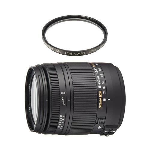 (レンズ保護フィルター付) シグマ 高倍率ズームレンズ 18-250mm F3.5-6.3 DC MACRO OS HSM キヤノン用