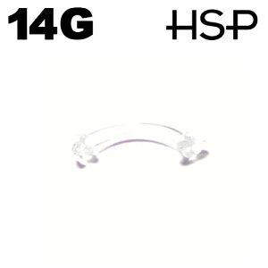ボディピアス 14G トラガス 透明 ピアス リテイナー カーブ 軸長11mm ヘリックス 耳ピアス ボディピアス アクリル 樹脂 クリア ボディピアス ピアッシング メンズ レディース ボディピアス 金
