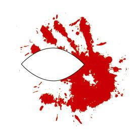 ハロウィン タトゥーシール 2枚セット ブラッドハンド ハロウィーン 【 フェイスシール フェイスペイント Halloween イベント 】 ダンス
