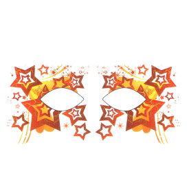 ハロウィン アイシャドウ アイメイク タトゥーシール レッドスタンプスター ハロウィーン 【 アイシャドー アイライナー アイライン ステッカー フェイスシール フェイスペイント Halloween イベント】 ダンス