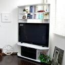 【限定】【SALE】 テレビ台 コーナー ハイタイプ 50インチ対応 大型液晶テレビ対応 TV台 テレビラック 白 送料無料