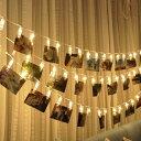 送料無料 LEDストリングライト 20LED写真/絵クリップ DIY吊り下げる飾り 3M イルミネ...
