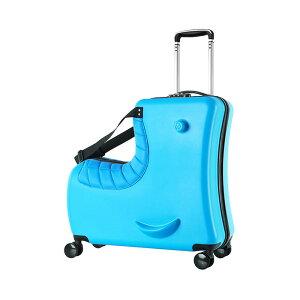 子供用スーツケース乗れる キッズキャリーケース トランク ダイヤルロック式 ダブルキャスターで静音 安心素材 子供の遊び心に満足 旅行・遠足・帰省に便利 座れる木馬形 24L大容量 最大積