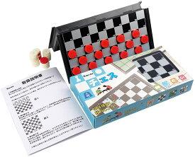 チェッカー Homraku 折りたたみ式 セットマグネット付き駒 棋盤 おもちゃ 駒の動かし方説明書付き コンパクト旅行ゲーム テーブルゲーム 子供も大人も6歳以上楽しめる (チェッカー)