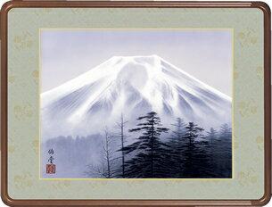 隅丸和額-霊峰富士/小川 伯堂(欄間やなげしに山水画隅丸和額をどうぞ)