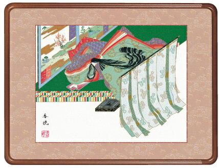 隅丸額-斎宮/西尾 香悦(欄間やなげしに古典画隅丸和額をどうぞ)