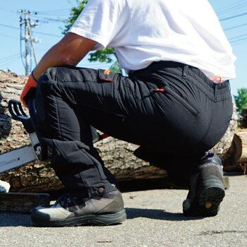 PLOWチェンソー用防護ズボン切断防止EU安全認証EN381-5クラス1適合ズボンタイプ【PH-TRSES1】