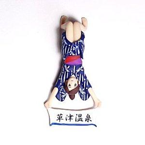 コップのフチ子 草津温泉 パープル/レッド帯