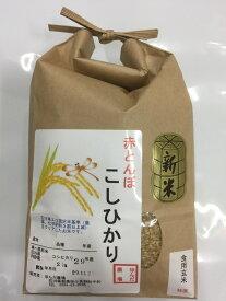 【送料無料】お試し版「加賀百万石 赤とんぼ米 こしひかり」玄米 2kg・令和元年産 新米・石川県産