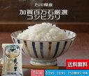 お米 【送料無料】 5kg 「加賀百万石厳選 こしひかり」 白米 食用玄米・5分づき精米 無洗米 からお選びください。 令和元年産 新米・石川県産