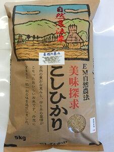 【年間契約】【送料無料】「自然農法米 こしひかり 自然の恵み」5kg・6回発送令和二年産 新米 減農薬・特別栽培米[一括払い](定期購入)
