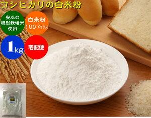 米粉 1kg 宅配便(送料無料) 特別栽培米・エコ栽培・減農薬 コシヒカリの米粉 白米粉 微粉「色白美人」