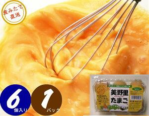 【送料無料】美野里 たまご 加賀の朝日 6コ 1パック 卵 玉子 だし巻き 目玉焼き エッグ