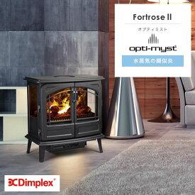 ファンヒーター 電気 Dimplex(ディンプレックス) 暖炉型ファンヒーター フォートローズ2 FOR212J 省エネ 電気ヒーター 足元 コンパクト おしゃれ 疑似炎 ファンヒーター
