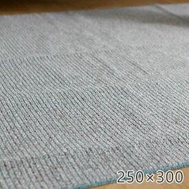 ラグ 洗える シンプル 超軽量!はさみで切れちゃうラグ カルル 250×300cm スミノエ ラグ カーペット ホットカーペット対応 床暖房対応 ギフト 無地 国産 日本製 丸洗い ストライプ ラグ