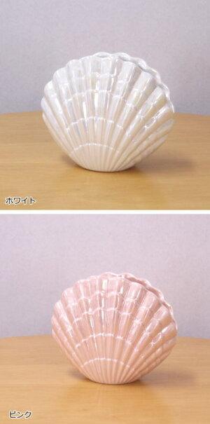 歯ブラシスタンド/歯ブラシホルダーラナクレルハブラシスタンド陶器製人気のシェルの形のおしゃれでかわいいの歯ブラシ立て。洗面所やキッチンに