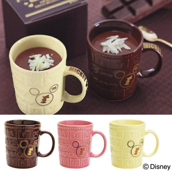 マグカップ 食器 ディズニー 『デコチョコマグ』 バレンタインのプレゼントに!板チョコ風のミッキーマウスのかわいいマグ ホワイトデー お返し 雑貨