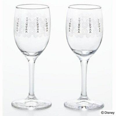 ディズニー 食器 グラスペアセット ジオメトリー ミッキー (ワイングラス×2)