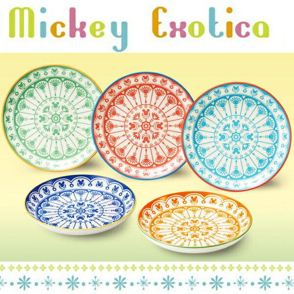 食器 お皿セット ディズニー アソートプレートセット ミッキー・エキゾチカ (16cm小皿×5枚) 日本製