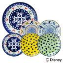 ディズニー キャラクター 食器 パーティーセット 『ポーリッシュ』 (24cmプレート×1枚 16cmプレート×5枚 セット) 『ポーリッシュ』ポタリー風にミッキーマウスをプラス おしゃれでかわいい食