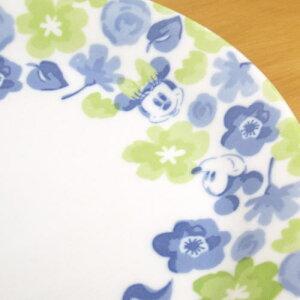 ディズニーキャラクター食器『フラワーミッキーパスタプレートセット』(19.5cmプレート×5枚セット)ミッキー&ミニーの花柄のおしゃれでかわいい食器セット。パスタ皿やカレー皿などに使える中皿セットです。新築祝い,結婚祝い,内祝いのギフトに