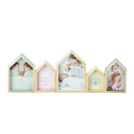 ラドンナ フォトフレーム ベビー 写真立て 5連 『ハウス ベビーフレーム』 木製 複数/多面(定形外×5) 赤ちゃん誕生祝い、出産祝いに
