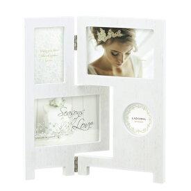 ラドンナ フォトフレーム ウェディング 結婚祝い パーテーション 写真立て 4枚(複数) ホワイト