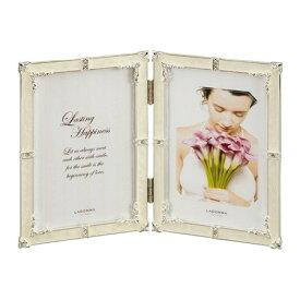 フォトフレーム ウェディング ラドンナ 見開き 写真立て ハガキサイズ(ポストカード) 2枚 卓上・壁掛け 結婚祝い 『リング ブライダルフォトフレーム』結婚祝いのギフト(プレゼント)に最適の写真たて