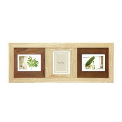 フォトフレーム 写真立て 置き・壁掛け両用 L判 3枚 ラドンナ AVANTI 木製 フォトフレーム ナチュラルな木製 写真立て 縦にも横にも飾れるレイアウト色々のインテリアフォトフレーム 多面の写真たて 結婚祝い,出産祝いなどプレゼントに最適のフォトフレーム