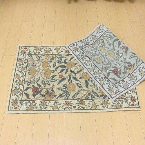玄関マット 室内 60×90 ゴブラン織り ブランド ウィリアム・モリス 『フルーツ』